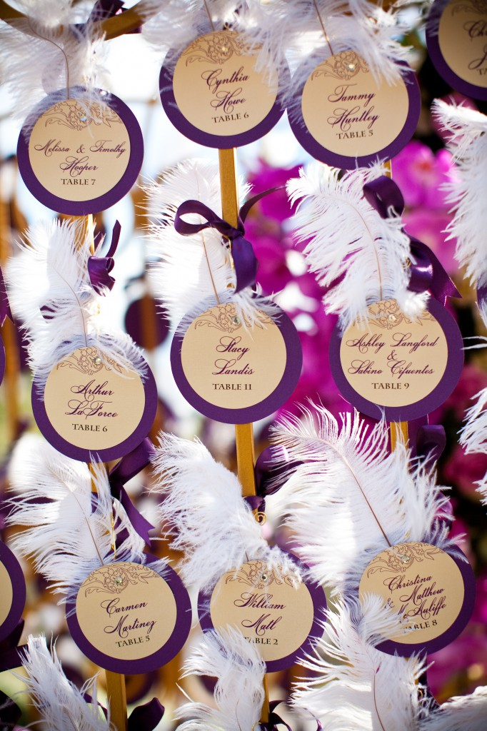 Feathered Escort Cards