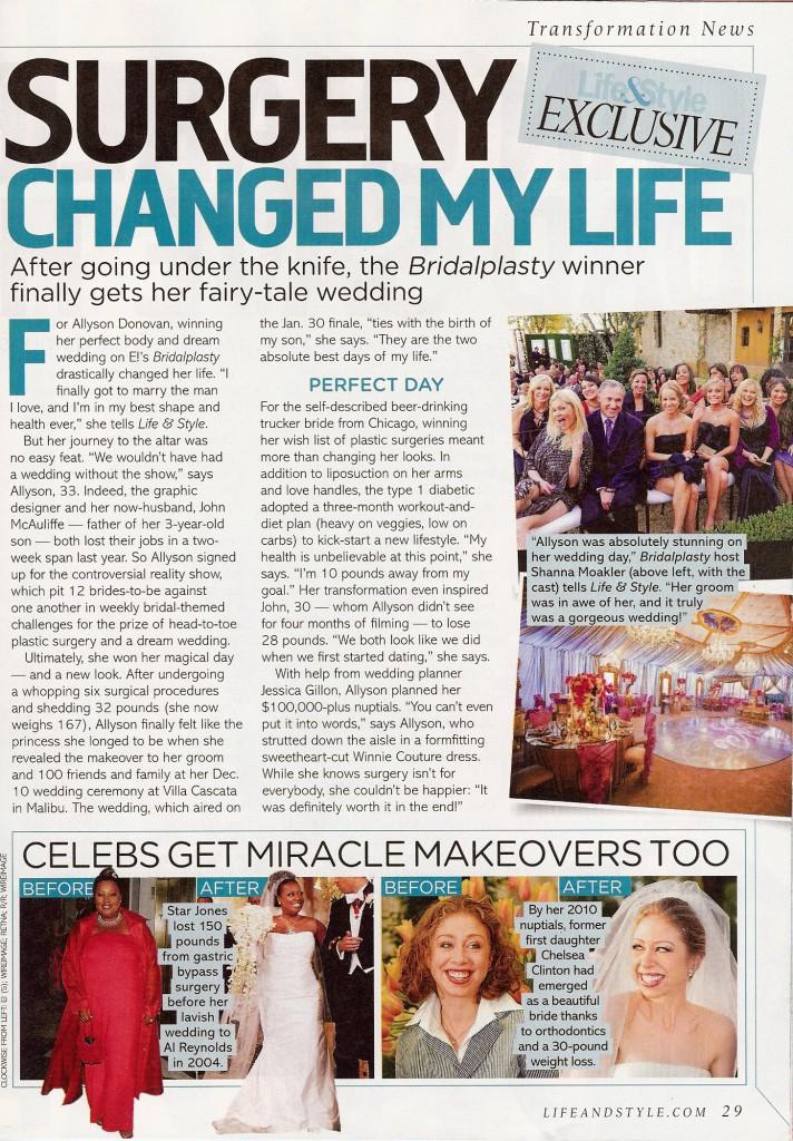 Bridalplasty featured in Life & Style Magazine