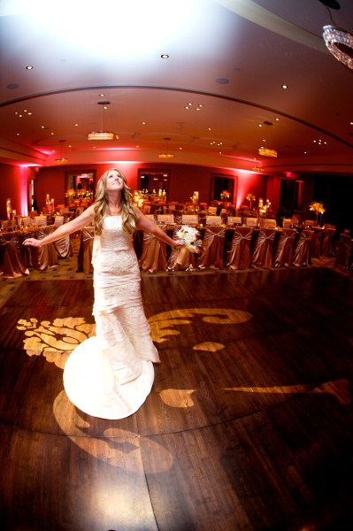 Bride in the ballroom