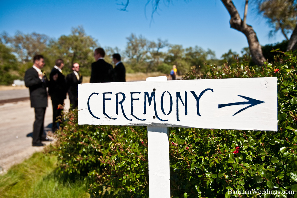 sign to ceremony