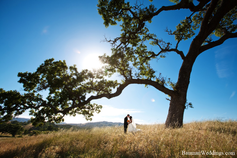 Bride and Groom on a ranch