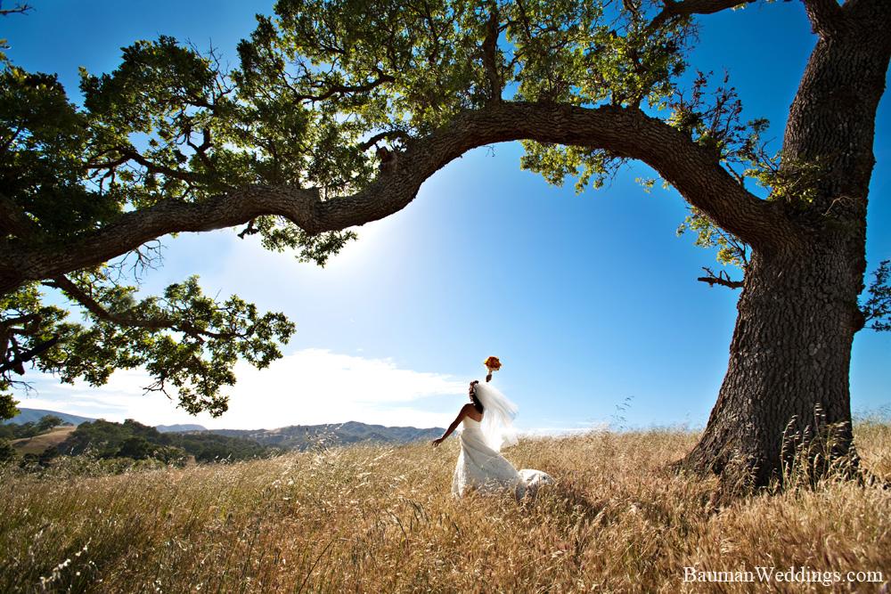 bride on a ranch