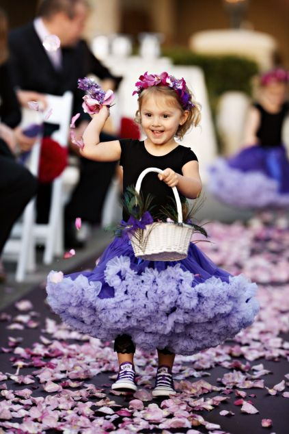flower girl in a tutu