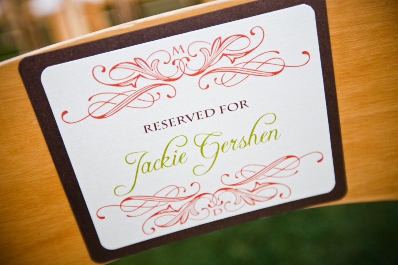 Ceremony Seat assignments