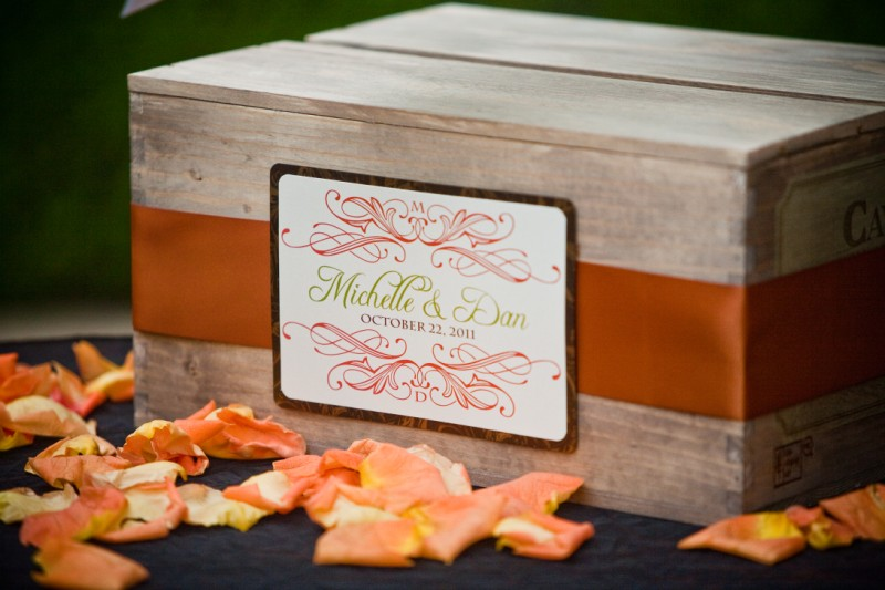 Wedding card gift box
