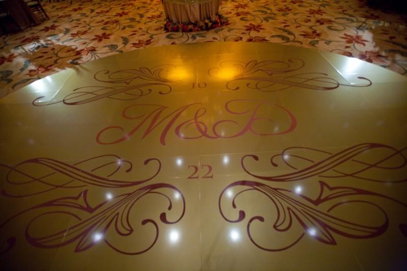 gold dance floor
