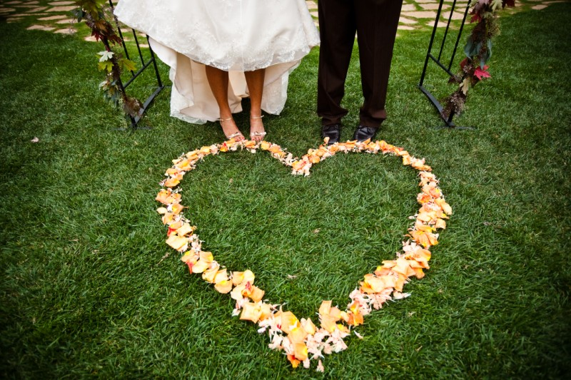 Heart wedding ceremony